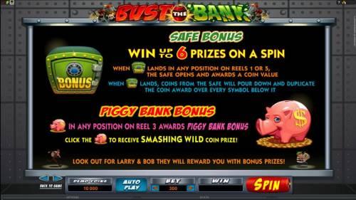 Bust the Bank review on Big Bonus Slots