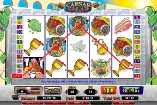 Caesar Salad review on Big Bonus Slots