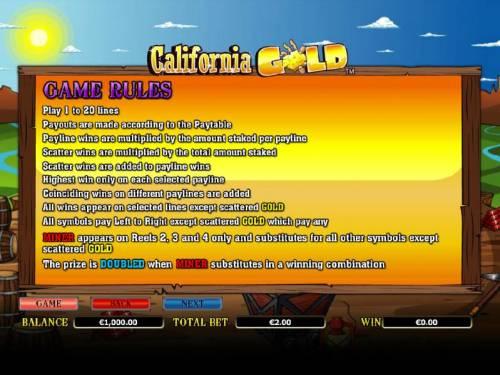 California Gold review on Big Bonus Slots