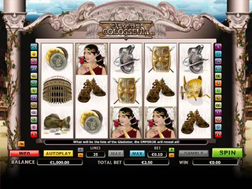 Call of the Colosseum review on Big Bonus Slots