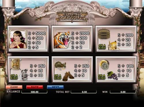 Call Of The Colosseum review on Big Bonus Slots