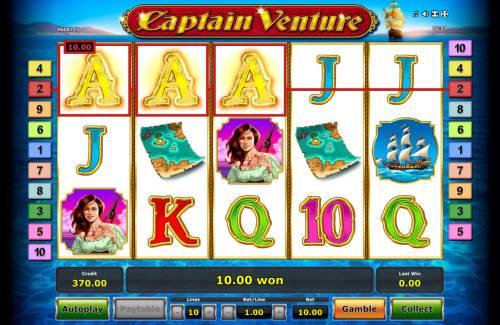 Captain Venture Big Bonus Slots A winning three of a kind