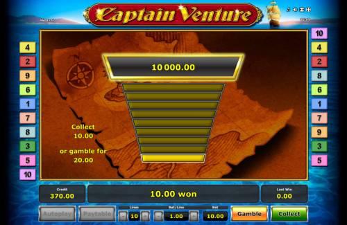 Captain Venture Big Bonus Slots Gamble Feature Game Board
