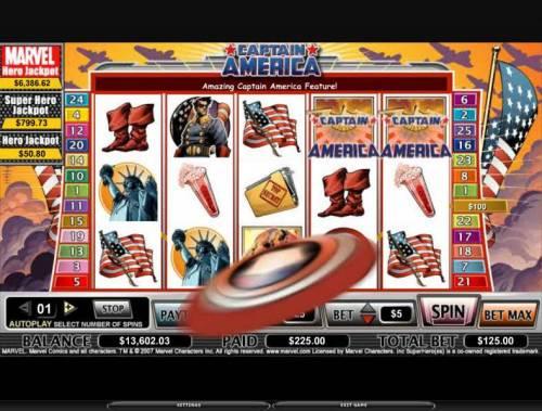 Captain America review on Big Bonus Slots