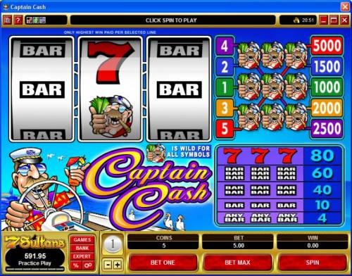 Captain Cash review on Big Bonus Slots