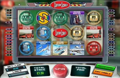 Captain Scarlet review on Big Bonus Slots
