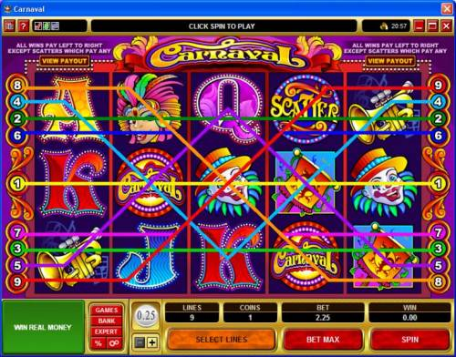 Carnaval review on Big Bonus Slots