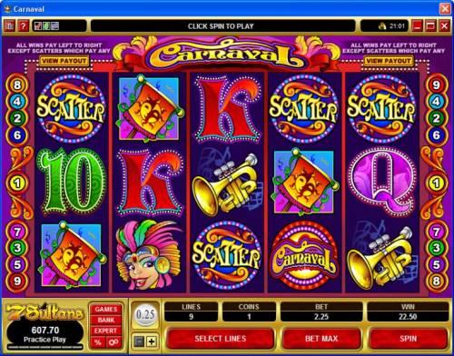 Carnaval review on Big Bonus Slots