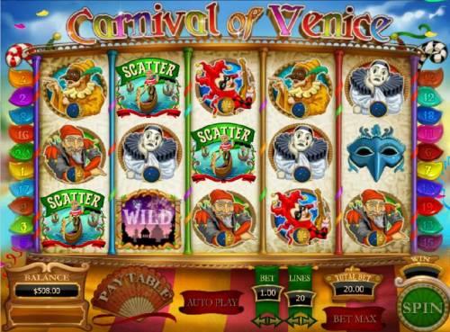 Carnival of Venice review on Big Bonus Slots