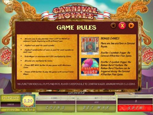 Carnival Royale review on Big Bonus Slots
