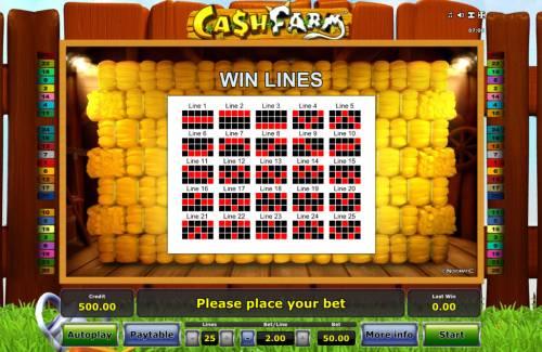 Cash Farm Big Bonus Slots Paylines 1-25