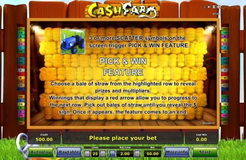Cash Farm Big Bonus Slots Feature Rules