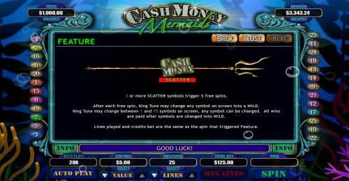 Cash Money Mermaids review on Big Bonus Slots