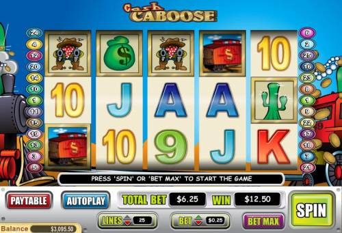 Cash Caboose review on Big Bonus Slots