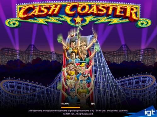 Cash Coaster Big Bonus Slots Splash screen - game loading
