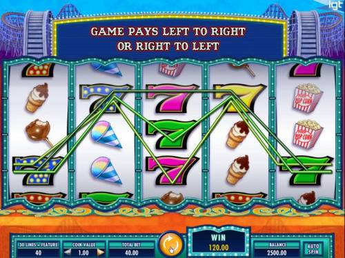 Cash Coaster Big Bonus Slots Multiple winning paylines triggers a 120.00 big win!