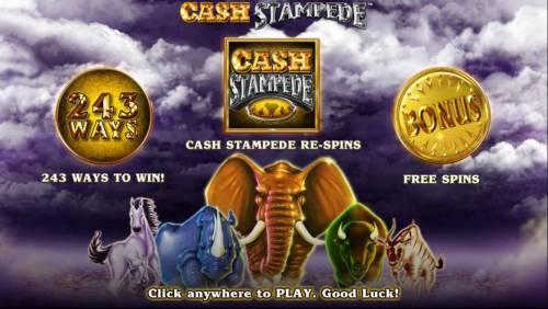 Cash Stampede review on Big Bonus Slots