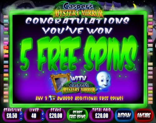 Casper's Mystery Mirror review on Big Bonus Slots