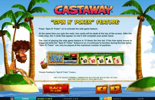 Castaway review on Big Bonus Slots