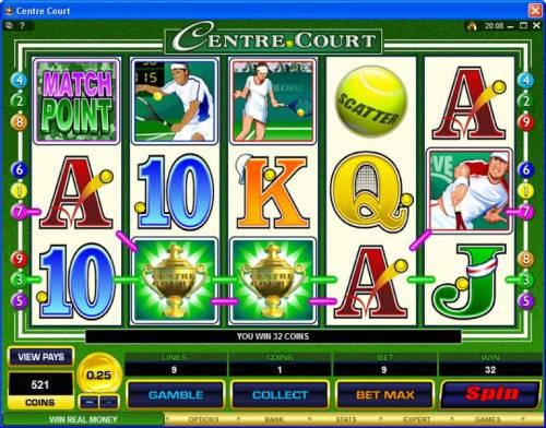 Centre Court review on Big Bonus Slots