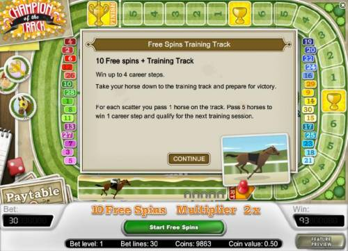 Champion Of The Track review on Big Bonus Slots