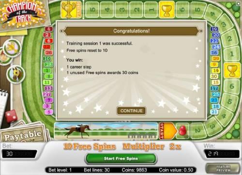 Champion Of The Track review on Big Bonus Slots