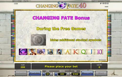 Changing Fate 40 review on Big Bonus Slots