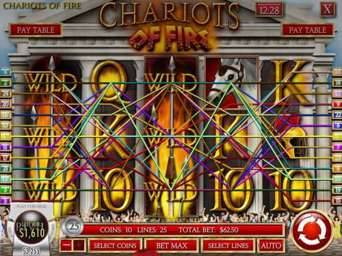 Chariots of Fire review on Big Bonus Slots