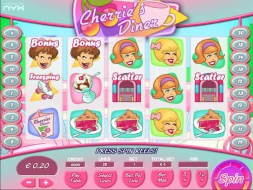 Cherrie's Diner review on Big Bonus Slots