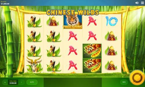 Chinese Wilds Big Bonus Slots Main Game Board