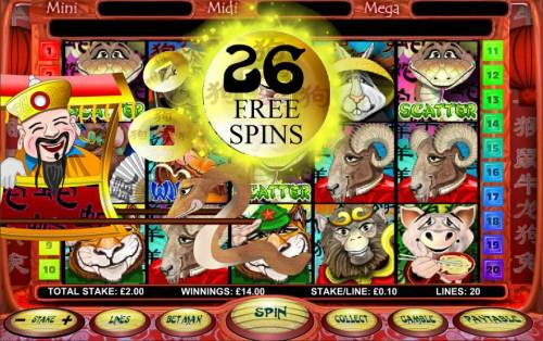 Chinese New Year Big Bonus Slots 26 free spins awarded