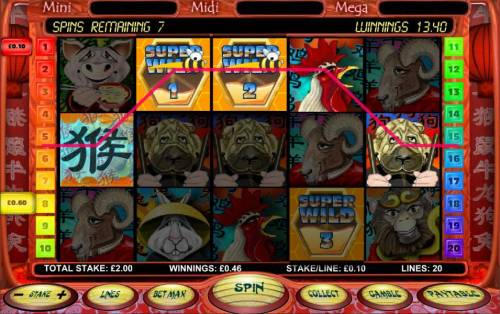 Chinese New Year Big Bonus Slots sticky wilds are available durig free spins