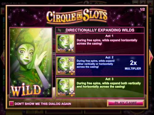 Cirque du Slots review on Big Bonus Slots