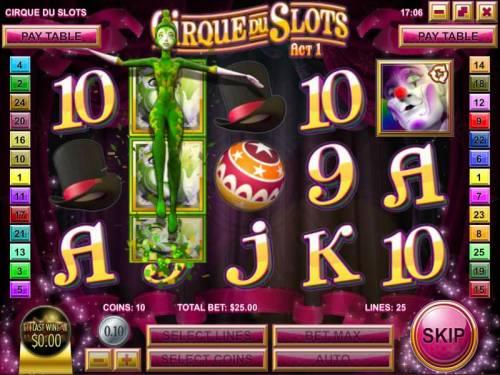 Cirque du Slots review on Big Bonus Slots