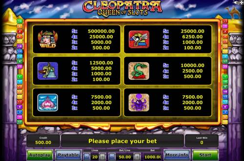 Cleopatra Queen of Slots review on Big Bonus Slots