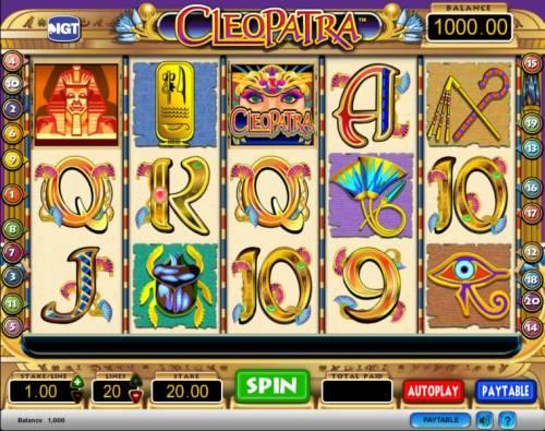 Cleopatra Big Bonus Slots Cleopatra slot game playing field