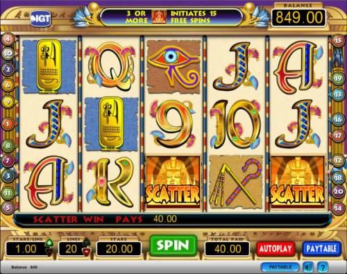 Cleopatra Big Bonus Slots Cleopatra slot game scatter symbol jackpot win