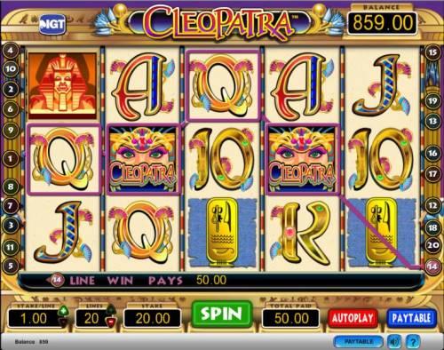 Cleopatra Big Bonus Slots Cleopatra slot game typical jackpot win