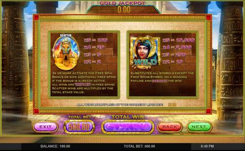 Cleopatra's Gold review on Big Bonus Slots