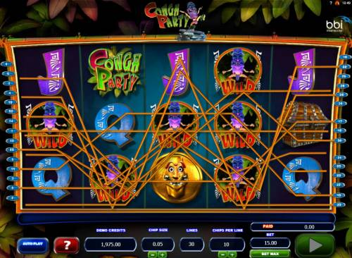 Conga Party Big Bonus Slots Multiple winning paylines