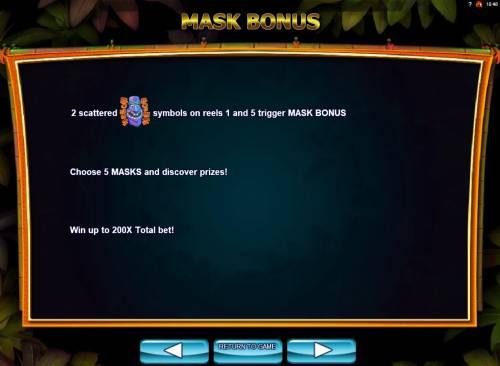 Conga Party Big Bonus Slots Mask Bonus Rules