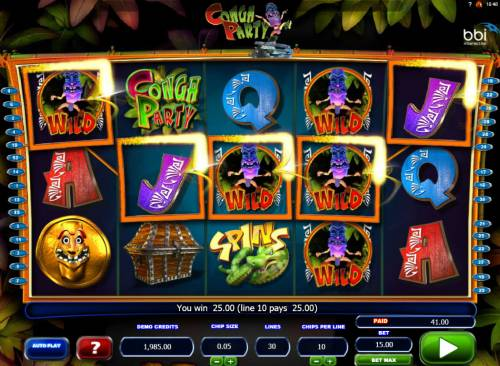Conga Party Big Bonus Slots A wnning five of kind