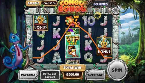 Congo Bongo Big Bonus Slots Bonus Game Triggered