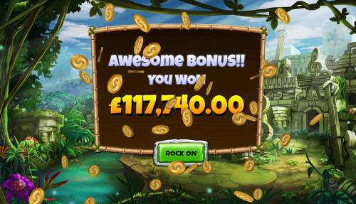 Congo Bongo Big Bonus Slots Total free games payout 117740 coins