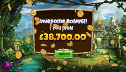 Congo Bongo Big Bonus Slots Total free games payout 387000 coins