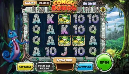 Congo Bongo Big Bonus Slots Main Game Board