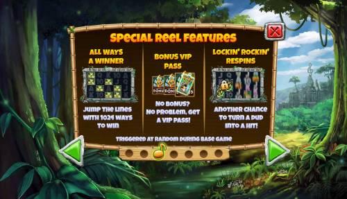 Congo Bongo Big Bonus Slots Special Features
