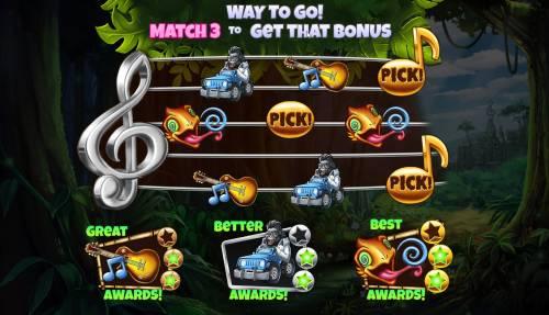 Congo Bongo Big Bonus Slots Match three to win a bonus game