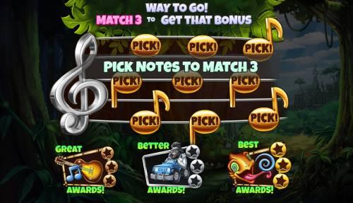 Congo Bongo Big Bonus Slots Select notes to reveal a prize