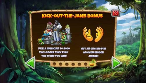 Congo Bongo Big Bonus Slots Kick Out The Jams Bonus